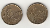 France 20 Cents - Error coin 20 Cents
