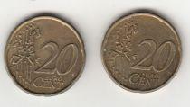 France 20 Cents - Fauté double frappe 20 Cents