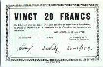 France 20 F , Mulhouse Chambre de Commerce, série B