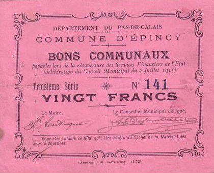 France 20 F Epinoy