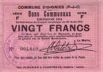 France 20 F Oignies