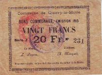 France 20 F Quiery-La-Motte