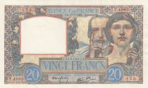 France 20 Francs - 17-07-1941 Serial T.4993 - a.XF