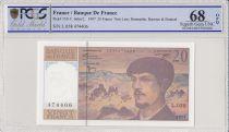 France 20 Francs - 1997 - Debussy - Serial L.058 - PCGS 68 OPQ