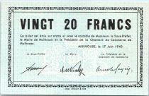 France 20 Francs , Mulhouse Chambre de Commerce, Série C - 1940