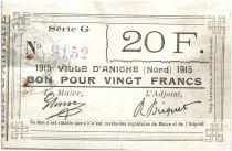 France 20 Francs Aniche Autre papier