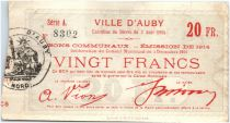 France 20 Francs Auby Ville - 1914