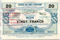 France 20 Francs Avesnes Et Solesmes Obies