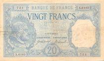 France 20 Francs Bayard - 11-01-1919 - Serial X.6183 - F+