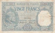 France 20 Francs Bayard - 19-01-1918 Série A.3790 - p.TTB