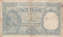 France 20 Francs Bayard - 25-01-1918 Serial W.3831 - Fine