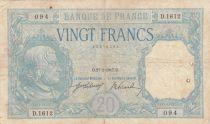 France 20 Francs Bayard - 27-02-1917 Série D.1612 - F - P.74