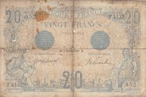 France 20 Francs Bleu - 04-02-1913 - Série F.4132 - B