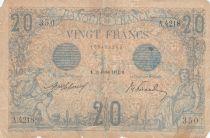 France 20 Francs Bleu - 11-02-1913 - Série A.4218 - B