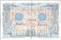 France 20 Francs Bleu -1912 - L.1339