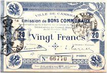France 20 Francs Cambrai City - 1914