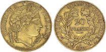 France 20 Francs Ceres - II e Republic - 1851 A Paris - Gold