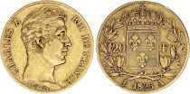 France 20 Francs Charles X - 1825 A - Gold
