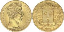 France 20 Francs Charles X - 1825 A Paris