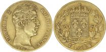 France 20 Francs Charles X - 1828 W Lille - Or
