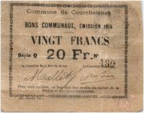 France 20 Francs Courchelettes City - 1914