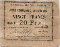 France 20 Francs Courchelettes Commune - 1914