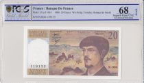 France 20 Francs Debussy - 1980  -N.004 - PCGS 68 OPQ