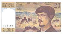 France 20 Francs Debussy - 1980