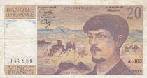 France 20 Francs Debussy - 1980 Serial A.003