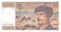 France 20 Francs Debussy - 1980 Série A.005 - TB