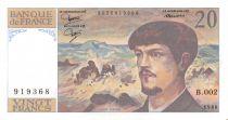 France 20 Francs Debussy - 1980 Série B.002 - SPL