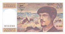 France 20 Francs Debussy - 1980 Série B.002 - SUP+