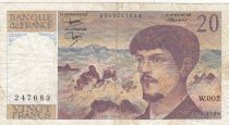 France 20 Francs Debussy - 1980 Série W.002