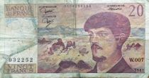 France 20 Francs Debussy - 1981 Serial W.007 - F