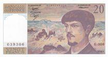 France 20 Francs Debussy - 1981 Série O.008 - Neuf
