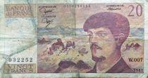 France 20 Francs Debussy - 1981 Série W.007 - TB