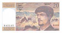 France 20 Francs Debussy - 1983 Serial B.012 - XF