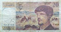 France 20 Francs Debussy - 1983 Serial T.010 - F