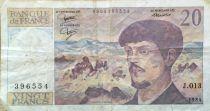 France 20 Francs Debussy - 1984 Serial J.013 - F