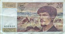 France 20 Francs Debussy - 1985 Serial X.015 - VF