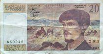 France 20 Francs Debussy - 1985 Série X.015 - TTB