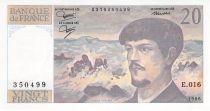 France 20 Francs Debussy - 1986 Serial E.016 - UNC