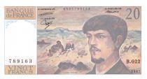 France 20 Francs Debussy - 1987 Serial B.022 - aUNC
