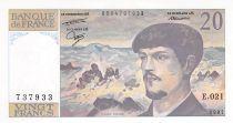 France 20 Francs Debussy - 1987 Serial E.021 - UNC