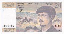 France 20 Francs Debussy - 1987 Série E.019 - NEUF
