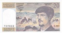France 20 Francs Debussy - 1987 Série E.021 - NEUF