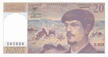 France 20 Francs Debussy - 1988 - Série X.023