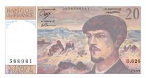 France 20 Francs Debussy - 1989 Série B.024 - SPL+