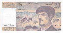 France 20 Francs Debussy - 1989 Série E.024 - P.NEUF