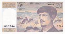 France 20 Francs Debussy - 1989 Série E.024 - SPL